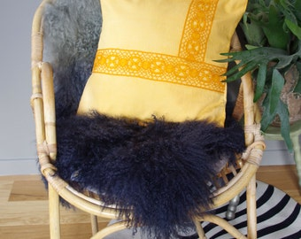 Yellow cushion with old lace #2