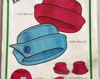 Green Pepper Pattern F873, Sewing Pattern, Roll Brim Hat Pattern for PolarTec Fleece Fabric