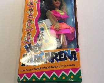 Hey Macarena Doll with tape rare 1996