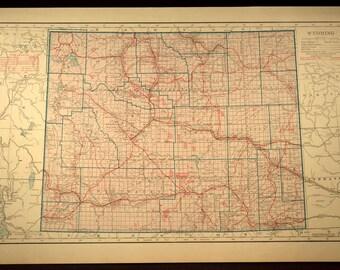 North Dakota Map LARGE North Dakota Road Map Highway Wall Art - Road map of wyoming