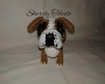 PATTERN - Old English Bulldog - Crochet Amigurumi Pattern