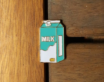 Milk Carton Enamel lapel Pin