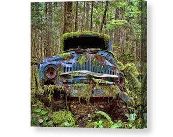 Rustic Photography, Rustic Decor, Old Cars, Old Truck, Canvas Art, Car Lover Gift, Vintage Cars, Canvas Wall Art, Car Wall Art, Car Decor