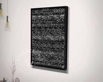 Sheet Music Wall Art sheet music art overlaping first dance sheet music notes