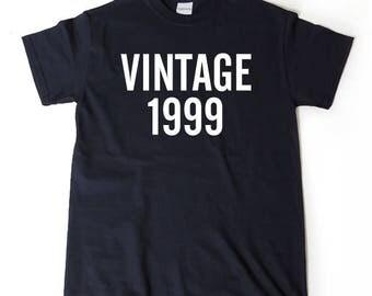 Vintage 1999 T-shirt Funny 1999 Birthday Twenty Gift Tee Shirt
