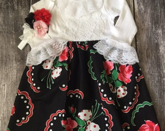 Floral Baby Dress, Baby Girl Dresses, Girls One Piece, Little Girl Dresses, Tea Party Dress, Boutique Dress, Church Gown, Baby Clothes, Baby