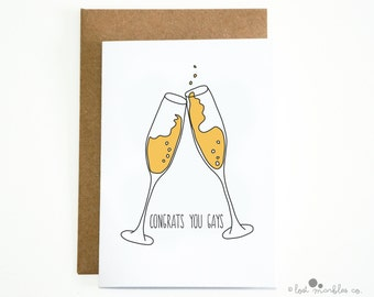 Funny Gay Wedding Card ∙ Same Sex Wedding Card ∙ Gay & Lesbian Card ∙ Congratulations Card ∙ Couples Card ∙ Congrats You Gays