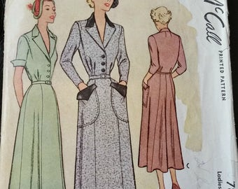 "McCall Pattern #7853 for 1949 Dress Size 20 - 38"" Bust"