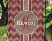 Garden Flag - Personalized Garden Flag - Rustic Chevron Flag - Personalized Yard Flag - Double Sided Flag - Wedding Gift - Housewarming Gift