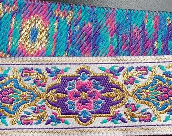 "Jacquard Ribbon Trim |1-1/16"" Inch Woven Jacquard Ribbon 