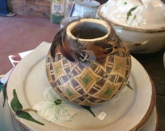 """Decorative gourd - """"Mox-Mox"""" - small decorative vase"""