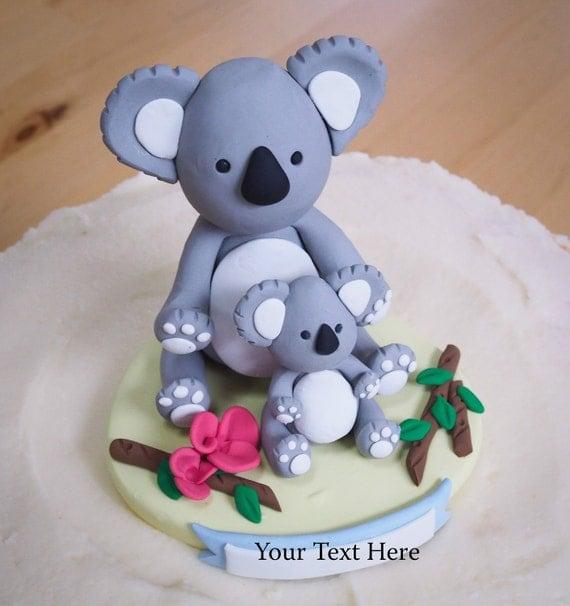 Koala Bear Topper On Cake