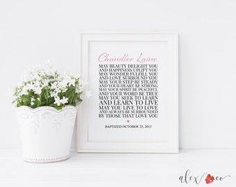 Baptism Printable. Baby Baptism Gift. Girl Baptism Gifts. Personalized Baptism Gift. Baptism Poem. Baptism Prayer. Baptism Gift Girl.