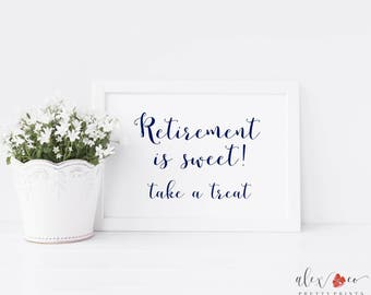 Retirement is Sweet Take a Treat Printable