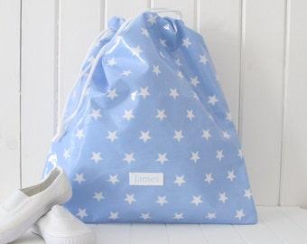 Children's Personalized Waterproof PE Bag, Kids Monogrammed Swim Bag, Gym Bag, School Bag, Personalised PE Kit, Nursery Bag, Ballet Bag,