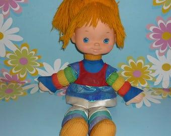 1980's Mattel Rainbow Brite - Eighteen Inch Doll with Original Dress and Blue Hair Ribbon