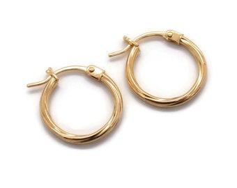 Twist Hoops, Gold Hoop Earrings, Womens Hoop Earrings, Small Hoop Earrings, Hoop Earrings, Gold Earrings, Womens Gold Earrings
