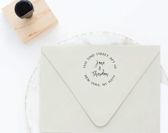 Return Address Stamp, Circle Address Stamp, Round Address Stamp, Address Stamp, Custom Address Stamp, Personalized Address Stamp, Self Ink