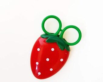 Cute Strawberry Scissors in Magnetic Case