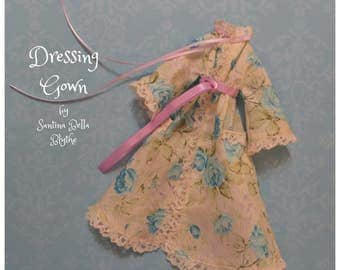 a 'Spring Romance' Dressing Gown for Blythe or similar sized dolls