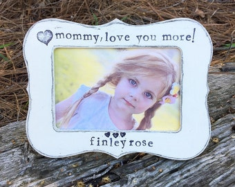 Mom mommy Mother gift picture frame for mom happy Mother's Day gift from child personalized 4 x 6 frame - Flowers in December