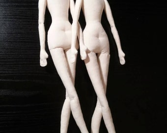 "SET of TWO Blank Doll BODIES 17"" for crafting -  handmade doll- PreSewn and Stuffed Blank Doll Body - premade doll- cloth doll body"