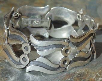 Pedro Castillo ~ Vintage Taxco Sterling Silver Link Bracelet - 42 Grams