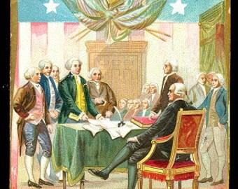 Tucks Independence Day Declaration 1908 Postcard