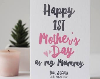 First Mother's Day Card - Personalised Mother's Day Card - Mother's Day Card - Card for Mum