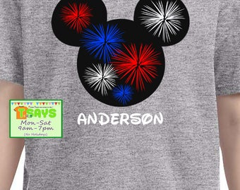 Independence Disney Shirts - 4th of July Disney Shirts - Disney Family for 4th of July Shirts - July 4th Disney Cruise