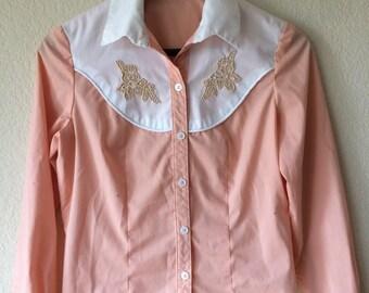 Girls Vintage Western Custom Rodeo Shirt