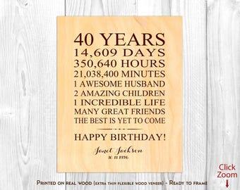 40th Birthday Wife Etsy