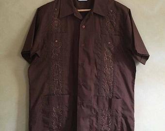 Vintage Mens 70's  era Embroidered Romani Shirt