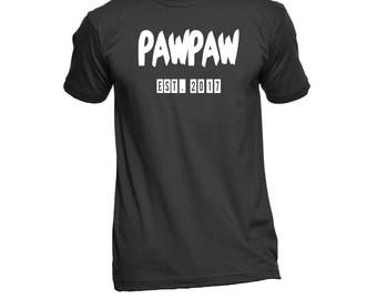 PawPaw Est. (Any Year) T-Shirt - PawPaw Shirt - PawPaw TShirt - PawPaw T Shirt - Gift For PawPaw - Grandpa To Be - Grandparent Gifts