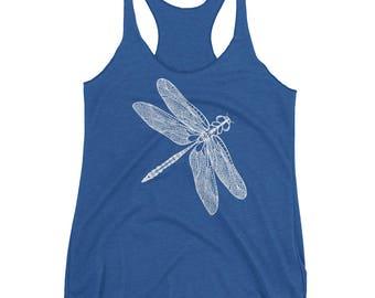 Dragonfly Tank Top - Dragonfly Racerback Tank Top - Dragonfly Tank - Gift for Women - Dragonfly Tank - Graphic Tank - by Bloom Bloom Wear