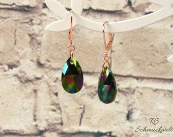 Drops of earrings, earrings pendants, pendant drops, crystal earrings, crystal earrings, gift, mother's day, birthday, Valentine's day