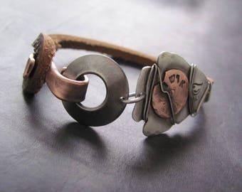 Leather Cuff Bracelet for Men, Mens Bracelet Leather, Mens Cuff Bracelet, Leather Bracelet Men, Rustic Bracelet, Mens Leather Cuff Bracelet