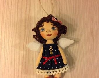 doll angel  textile angel cloth doll soft doll angel stuffed doll angel gift little angel wall hanging angel