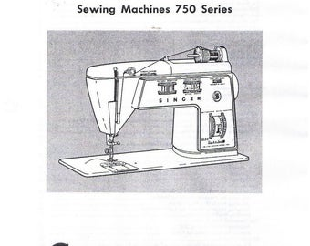 Singer Golden Touch & Sew Sewing Machine Class 750 Series 756 758 Adjusters Service Repair Manual Book