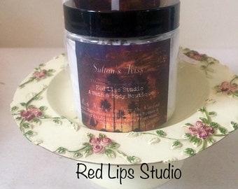SULTAN'S KISS-Whipped Body Butter-4 oz Paraben Free Handmade-Olibanum, Bergamot & Orange