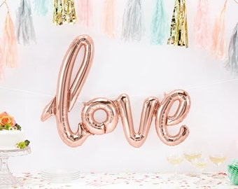 Love Balloon - Giant Love Script Balloon - Rose Gold Love Balloon - engagement balloon - valentines balloon