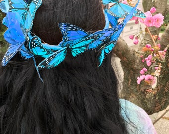 Customizeable Festival Butterfly Crown