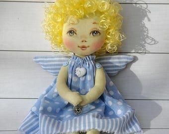 angel doll.  textile doll