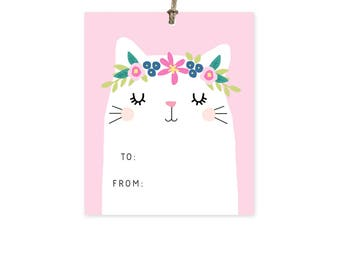 Crowned Cat - Gift Tags Set of 10