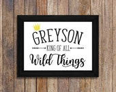 Custom Where the Wild Things are Party Printable, King of All Wild Things