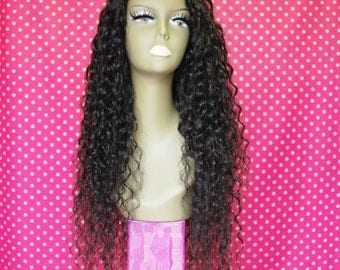 9A Peruvian Virgin Remy Human Hair Upart Wig- Italian Curly