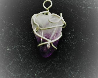 Wire Wrapped Lilac Amethyst
