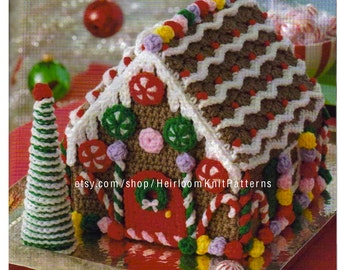 Gingerbread House and Tree Crochet Pattern PDF Christmas Crochet Decor Ornaments Holiday Decoration Instant Digital Download PDF - 2180