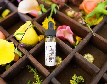 Natural Perfume Oil - Rain, Earth, Summer, Green, Grounding - Summer Rain Natural Perfume | Luxury Women's Perfume