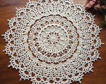 """Crochet doily, lace doilie, 12"""""""